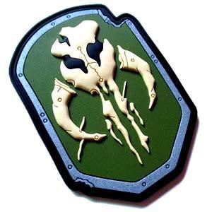 skull 3d pvc patch