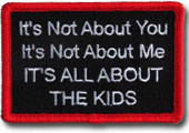 its about the kids embroidered patch