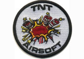 tnt airsoft embroidered patch