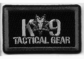k9 tactical gear embroidered patch