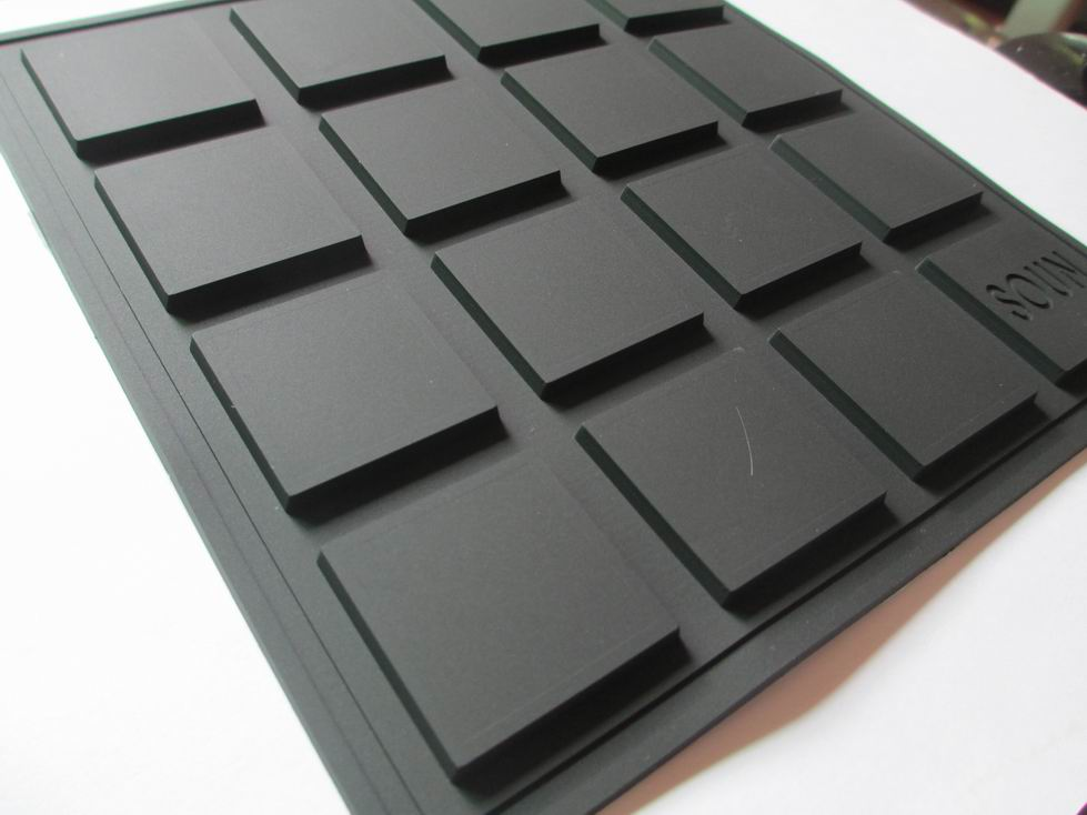 black squares pvc label
