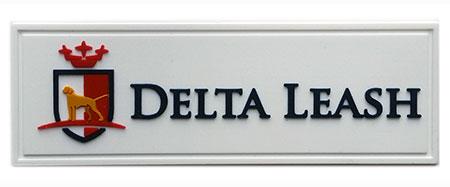 delta leash pvc label