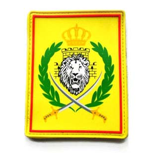 printed lion pvc patch