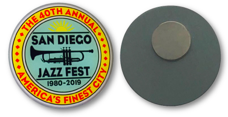 JAZZ FEST MAGNETIC PIN