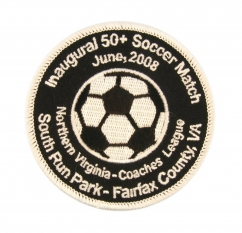 round soccer patch