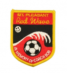 shield shaped soccer patch