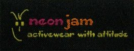 Woven Label - Neon Jam Activewear with Attitude