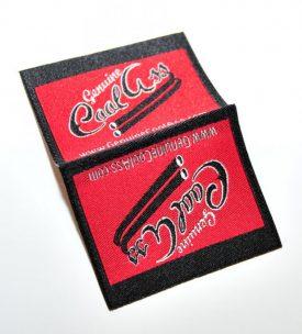 logo folded label