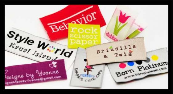 Clothing Tags & Labels for Clothing & Apparel Designers