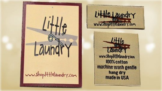 custom clothing labels and hangtags - little laundry