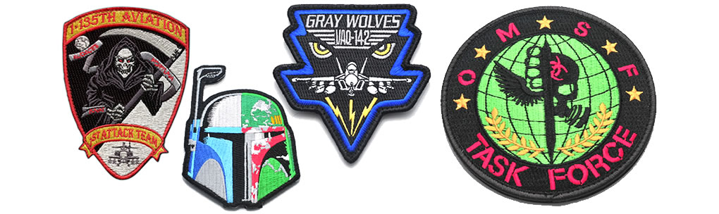 custom patches for uniforms - embroidered pvc woven printed