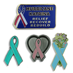 Awareness Ribbons & Recognition Pins - Awareness Ribbon Pins