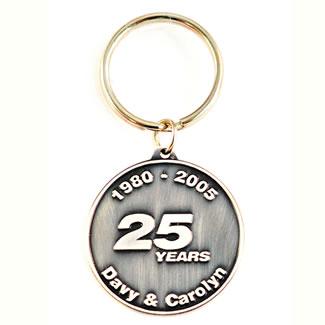wedding antique silver keychain